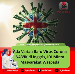 Ada Varian Baru Virus Corona N439K di Inggris, IDI Minta Masyarakat Waspada