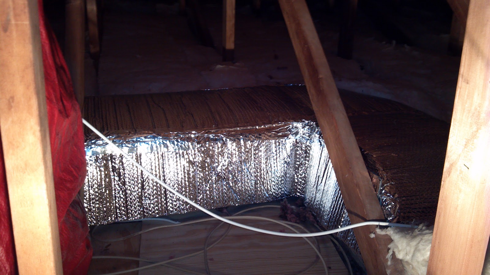 DIY Attic Duct Work Insulation