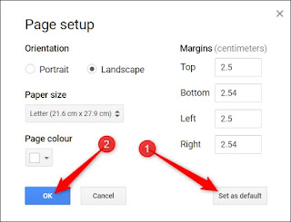 Cara Mengubah Orientasi Halaman di Google Documents