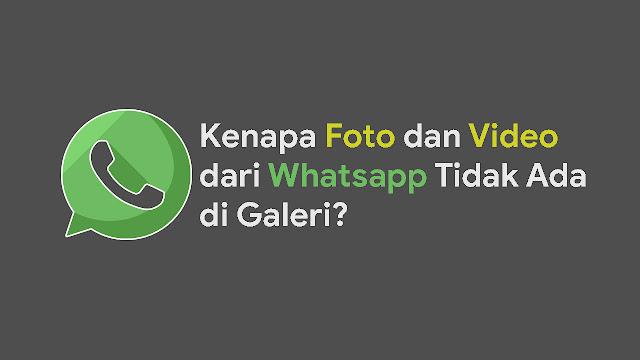 Kenapa Foto dan Video dari Whatsapp Tidak Ada di Galeri