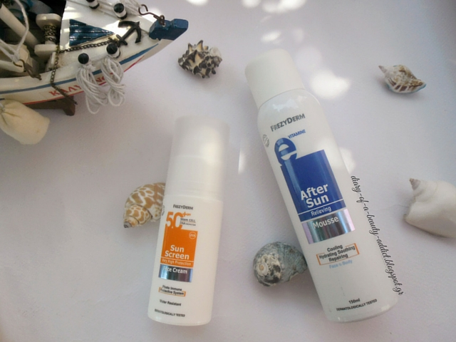FREZYDERM Sun Screen Face Cream SPF50+ & After Sun Mousse : Review