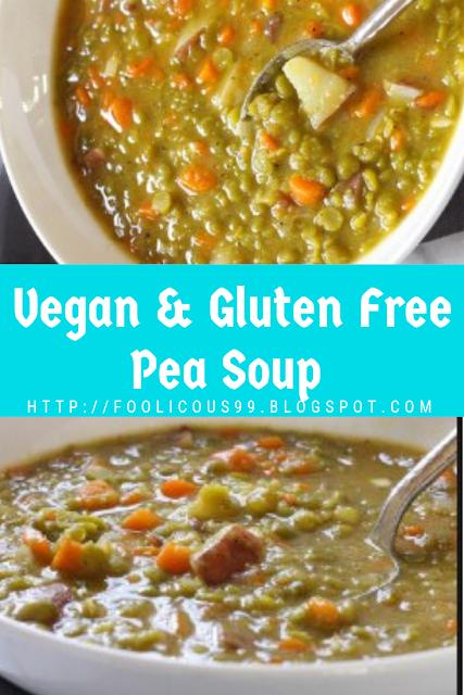 Vegan & Gluten Free Pea Soup