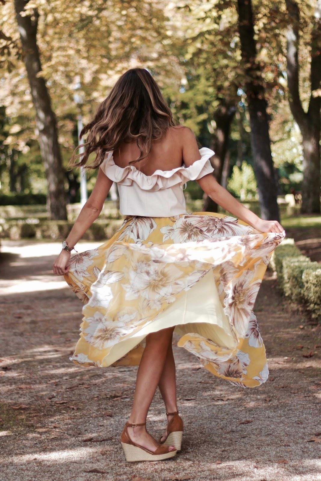 falda larga fiesta