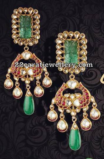 Exclusive Trendy Peacock Pendant Earrings
