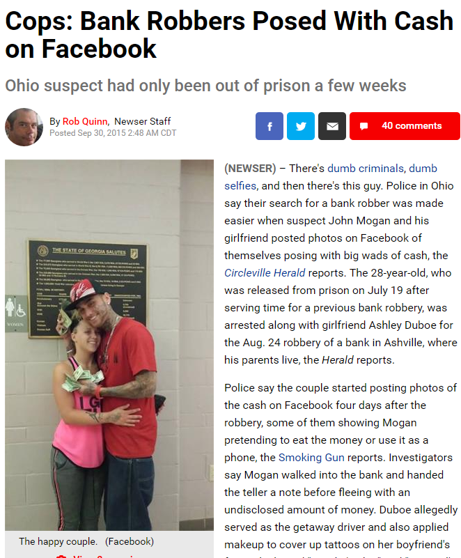 Funny Facebook Criminals