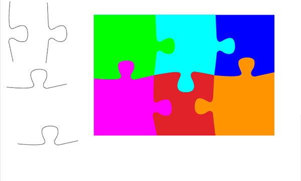 puzzle shape with path in illustrator