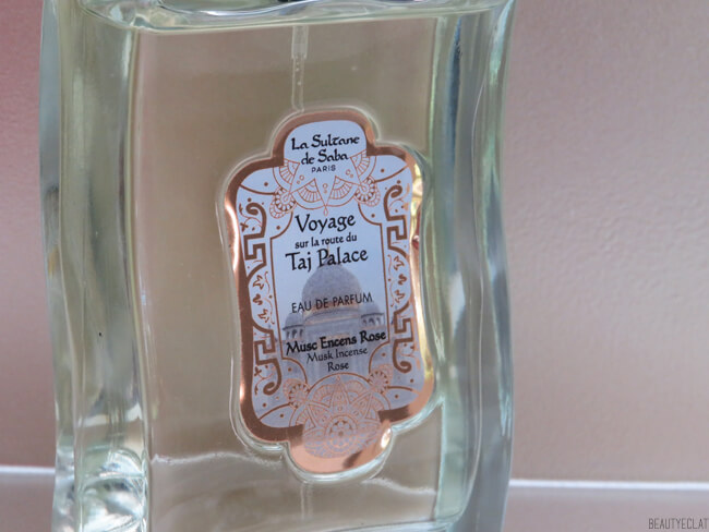 test eau de parfum sultane de saba musc encens rose