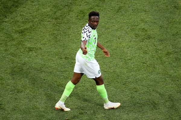 Ahmed Musa in action for the super eagles at the Russia 2018 world cup