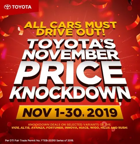 Toyota November Price Knockdown Promo