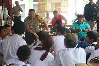 Kapolres Sukabumi Memberikan Himbauan Kepada Pelajar