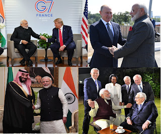 Narendra Modi with world leader relation