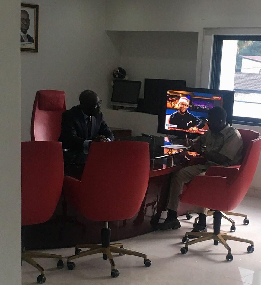 Obaseki shares photo from his first day in office