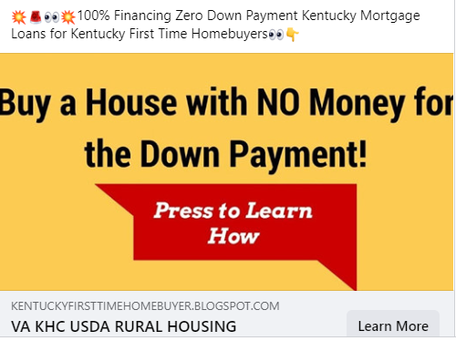 ZERO DOWN HOME LOANS IN KENTUCKY There are a few programs that feature zero down payment in Kentucky For Home buyers