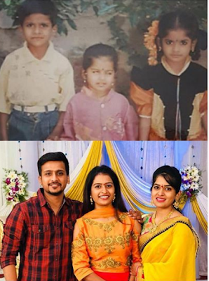 Anusha Reddy with her siblings