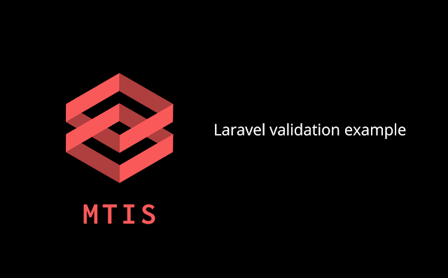 laravel validation example
