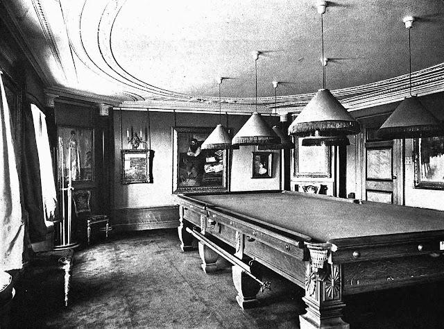1921 billiards room photograph