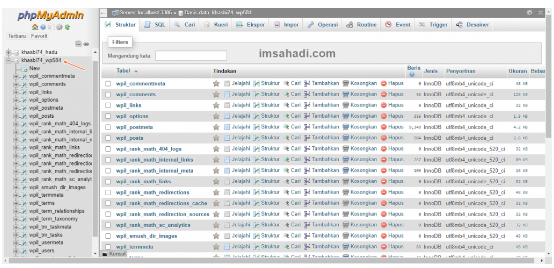 tabel database wordpress