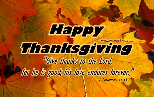 christian happy thanksgiving card