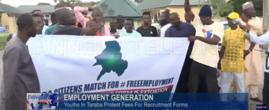 Taraba Civil Service Recruitment 2021 – Youths Demonstrate over Payment Of recruitment forms