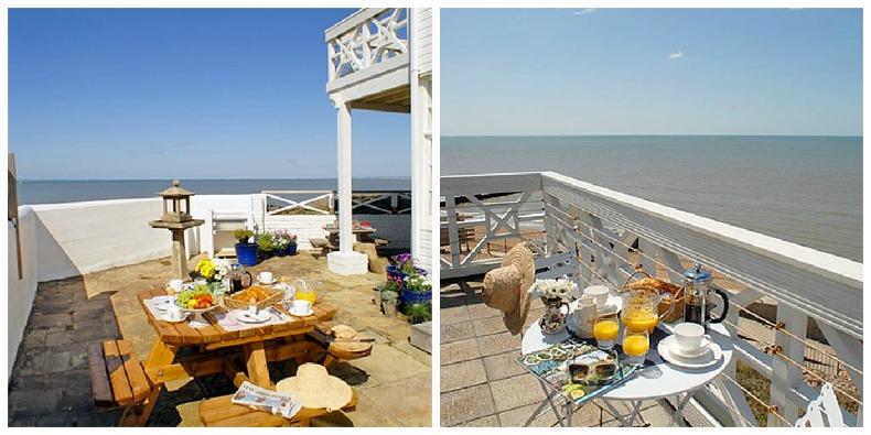 coastal beach house outdoor dining areas
