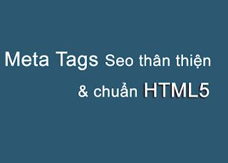 Meta tag seo va chuan html5