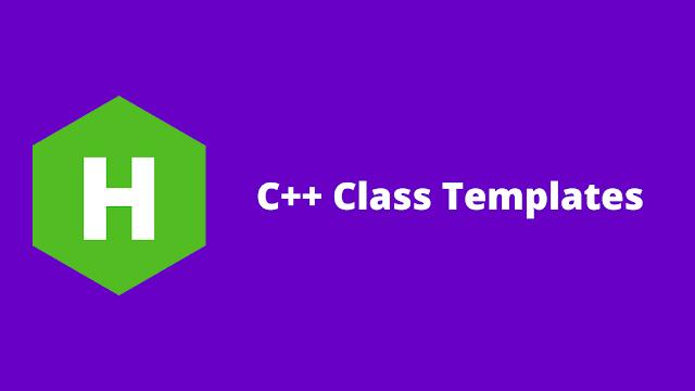 HackerRank C++ Class Templates problem solution