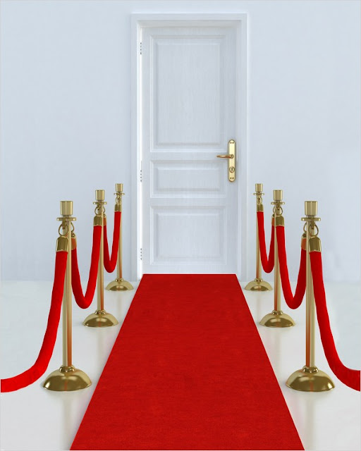 Black and Gold Star Polyester Aisle Runner Movie Red Carpet VIP Party Decoration