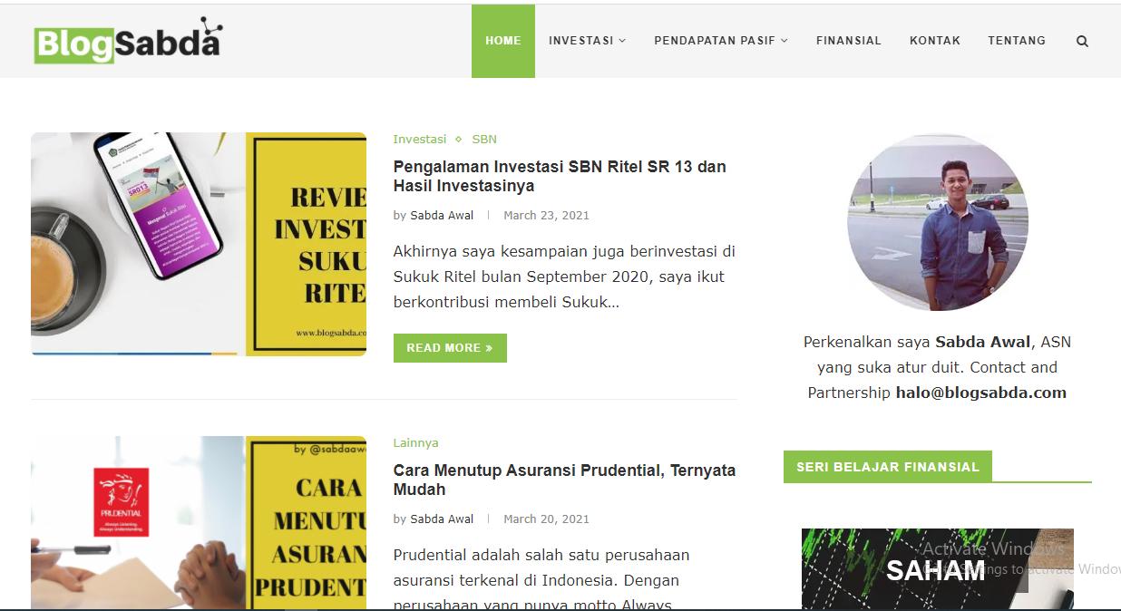 """Blog Finansial """"BlogSabda.com"""""""