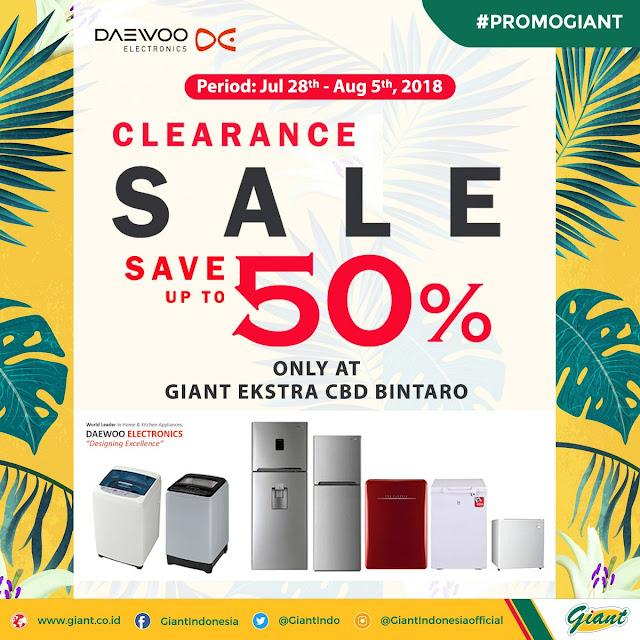 Giant - Promo Diskon s.d 50% Prodk Daewoo Elektronik (s.d 5 Agustus 2018)