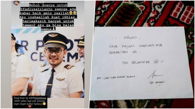 Kisah Pilot SJ 182 Fadly Satrianto yang Mau Menikah dan Capt Afwan Ingatkan Sholat Subuh