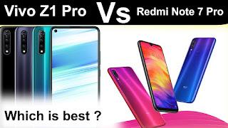 Vivo Z1 Pro images, Redmi Note 7 Pro images,Vivo Z1 Pro price,Redmi Note 7 Pro price