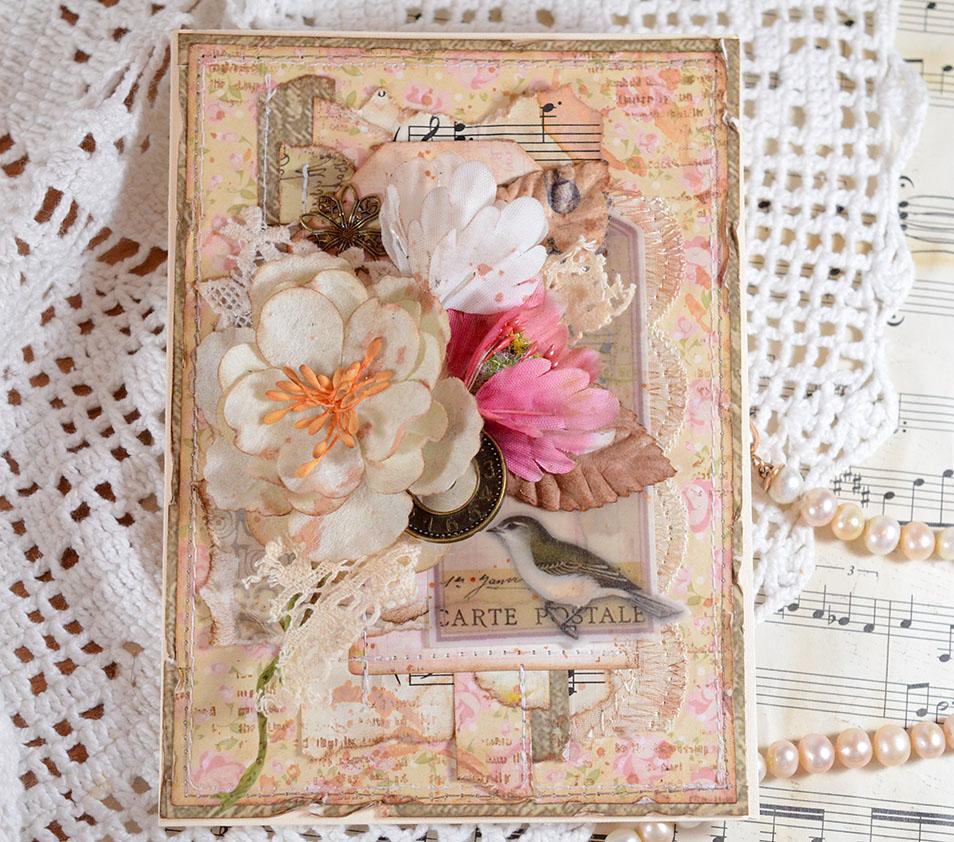 Розы для, открытки из остатков