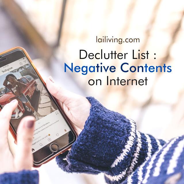 negative contents decluttering