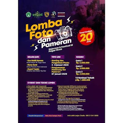 Lomba Foto Dan Pameran Kejurnas & Festival III Pagar Nusa Berhadiah Total 20 Juta