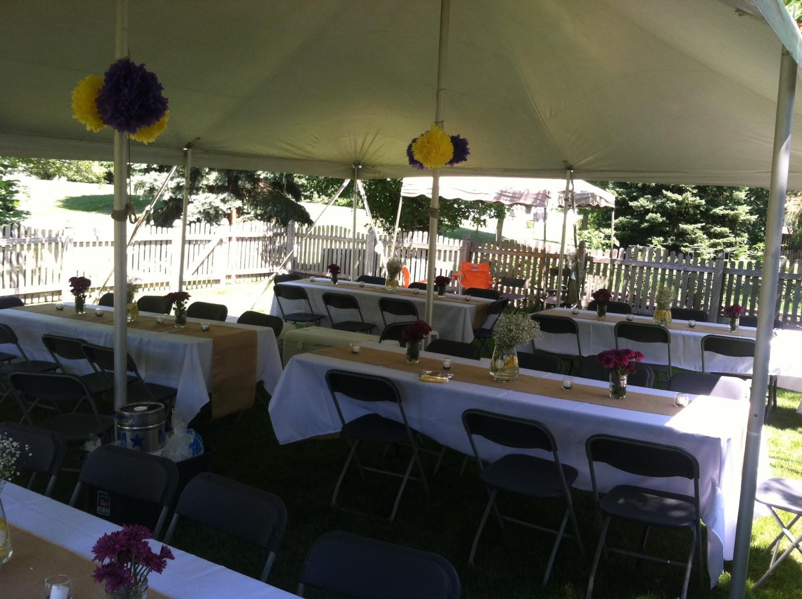 Backyard BBQ Wedding Reception