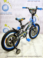Sepeda Anak Wimcycle Hot Wheels 16 Inci