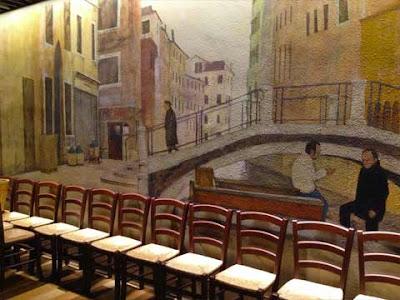 Murale veneziano presente all'ingresso