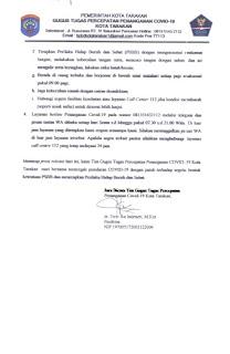 Press Release COVID-19 Tarakan 27 Mei 2020 - Tarakan Info