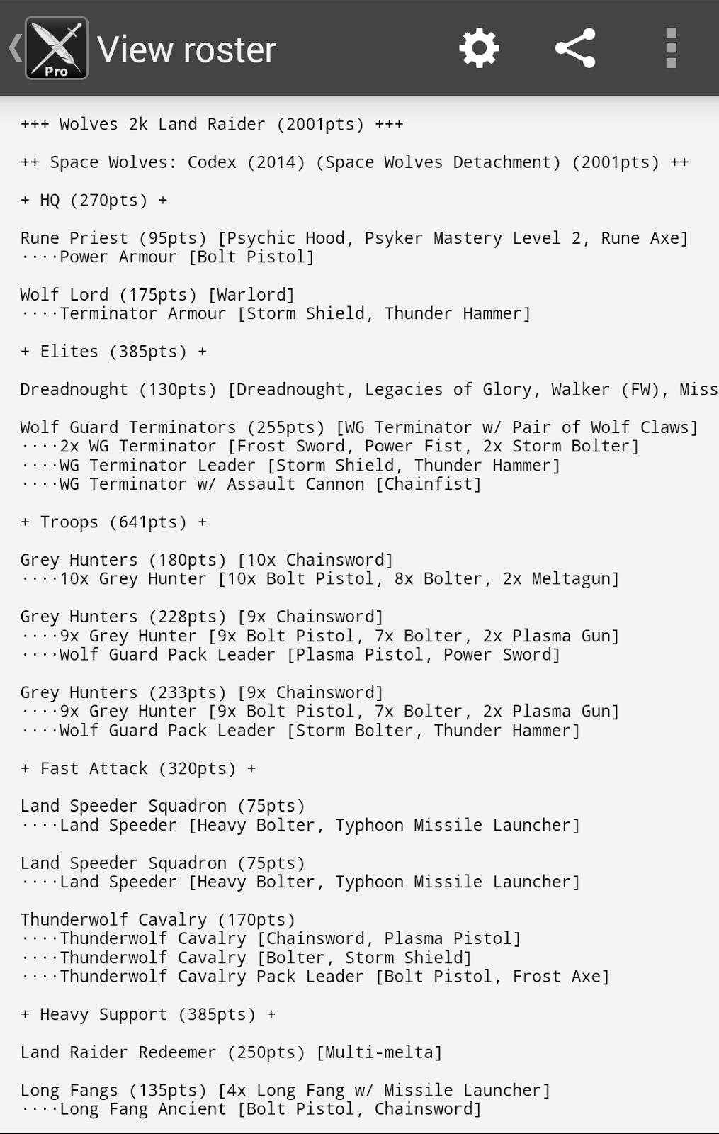 BattleScribe Army List Creator: BattleScribe 1 15 00 Released!