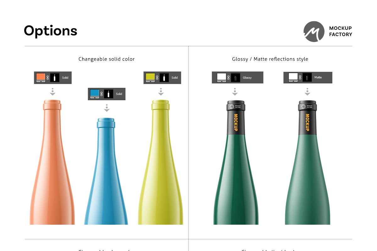 Wine Bottle Mockup Vol.3 (PSD, JPG) - Ngcloudy.com