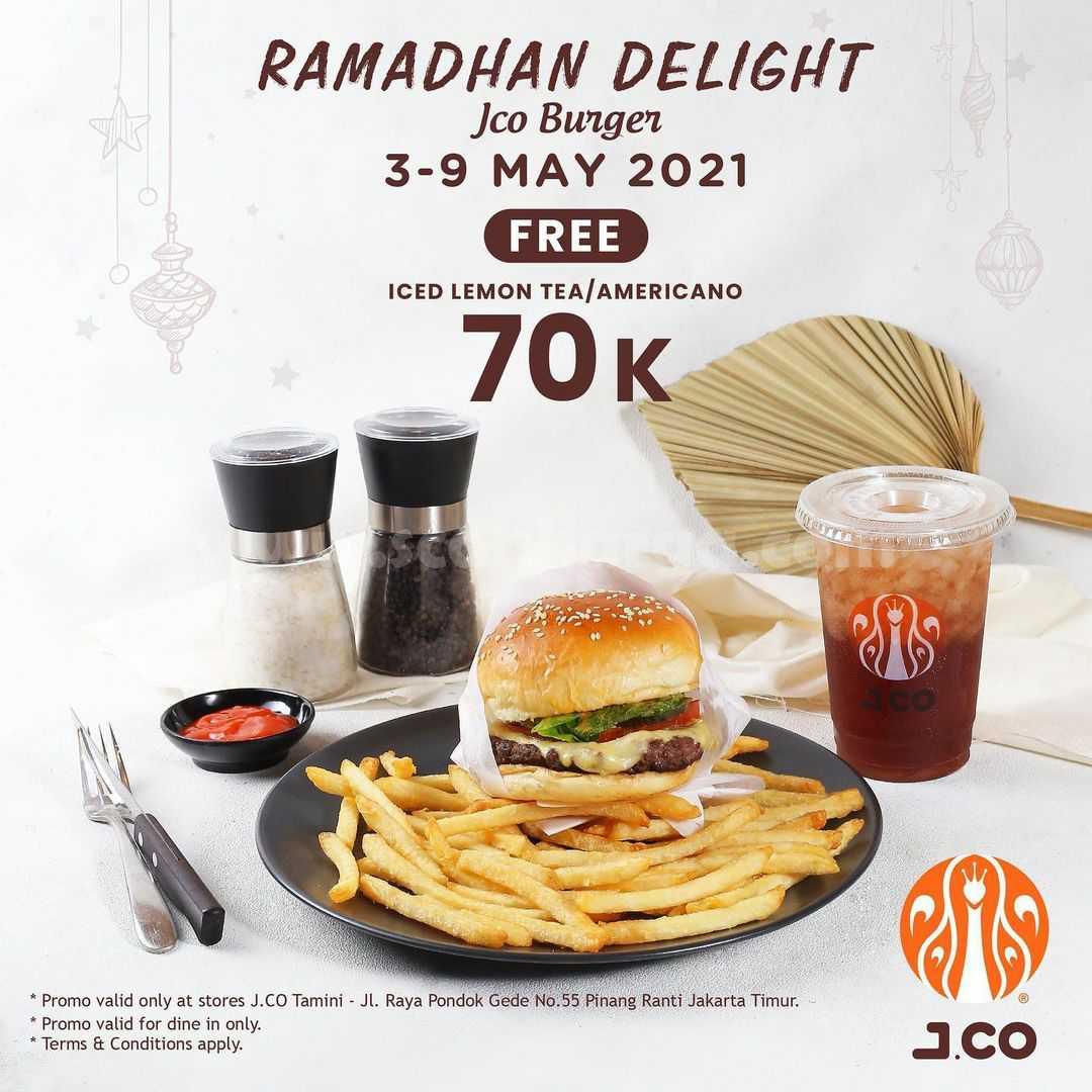 Promo JCO Ramadhan Delight! Beli JCO BURGER & Iced Lemon Tea cuma Rp. 70K