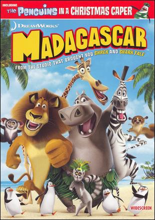 DVD cover Madagascar animatedfilmreviews.filminspector.com