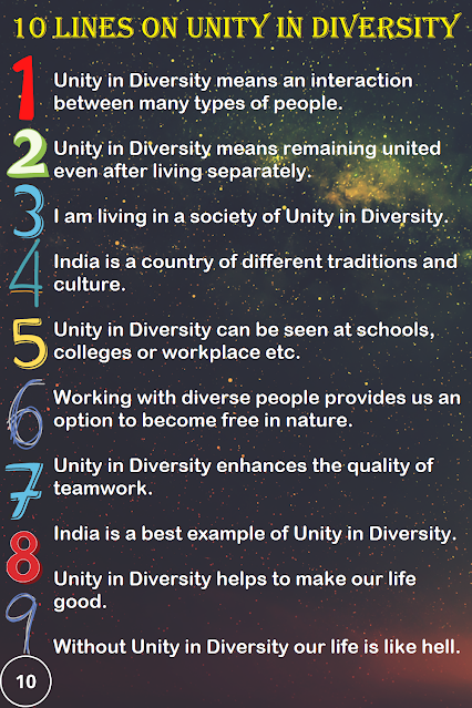 Few Lines on Unity in Diversity