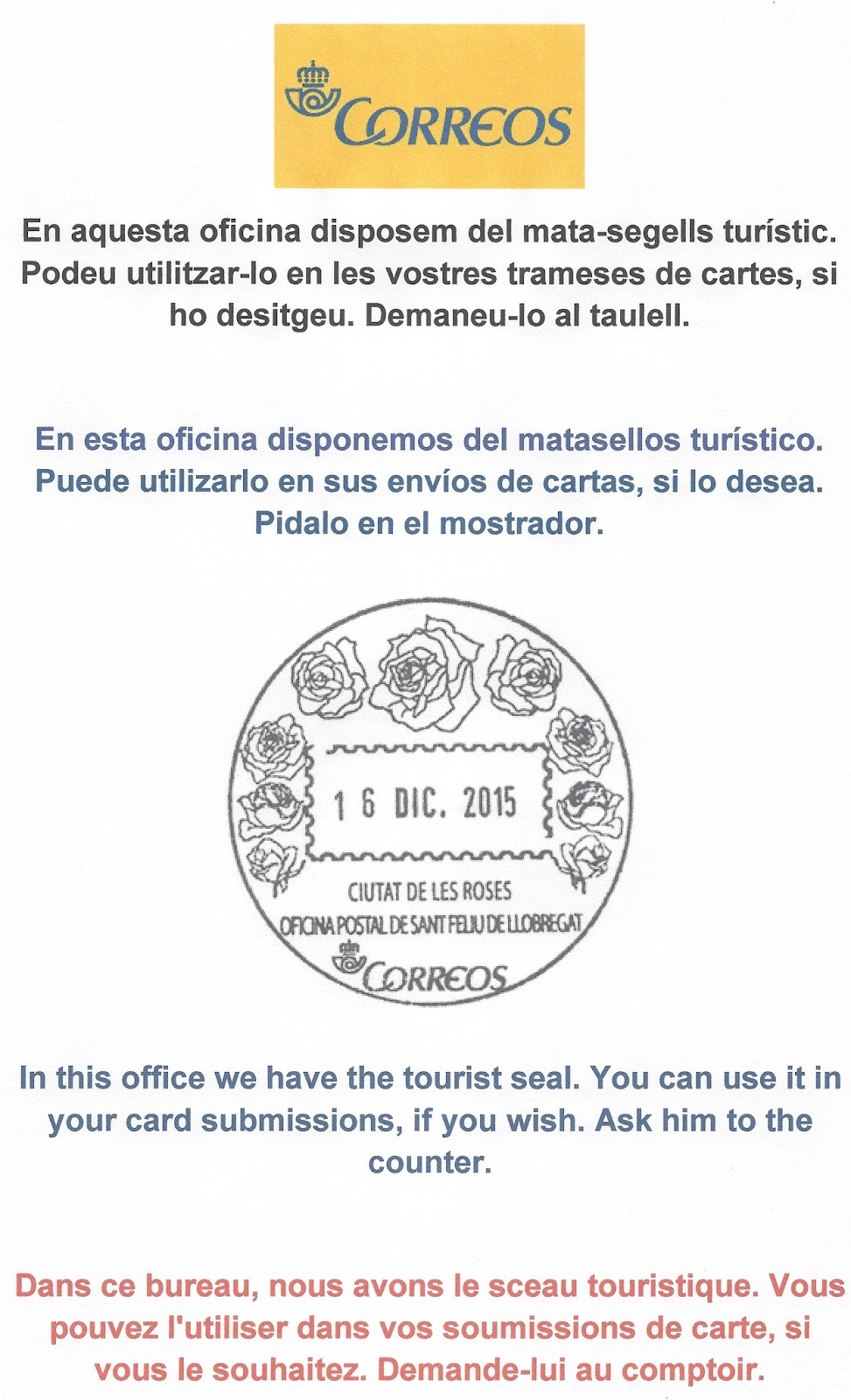 Cercle catal de col leccionisme correos i el cercle for Correos cornella de llobregat