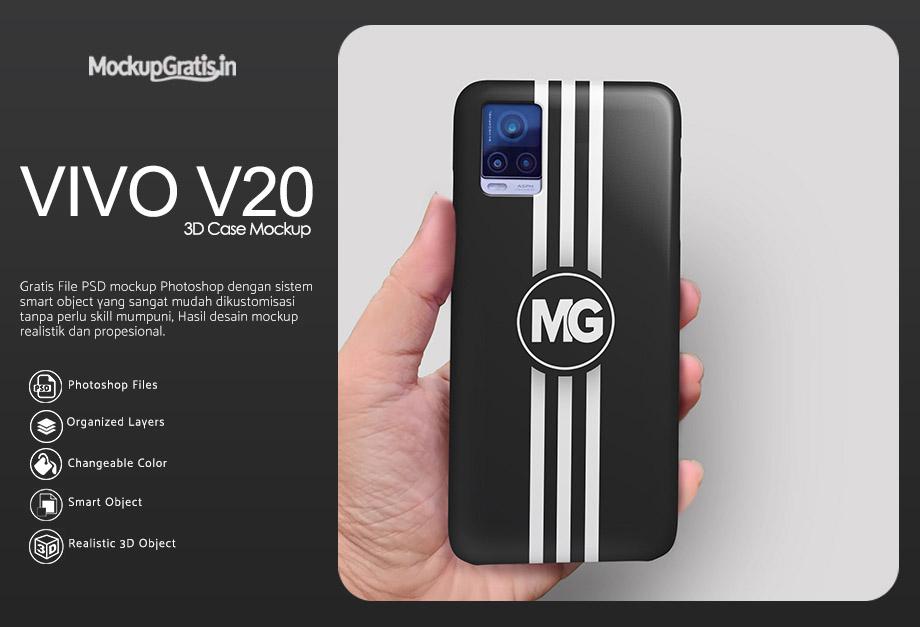 Mockup Custom Case 3D VIVO V20