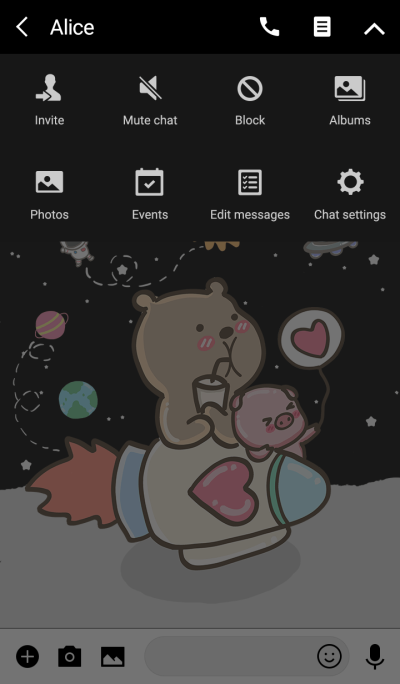 pig and bear (go to space3)
