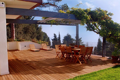 Outdoor Wooden Flooring For Terrace