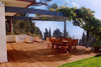 Outdoor Wooden Flooring For Terrace