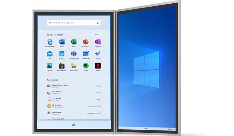 Melihat Lebih Dekat Menu Start Baru Pada Windows 10X