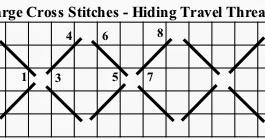 Creative Stitch: The Large Cross Stitch and Hiding Travel
